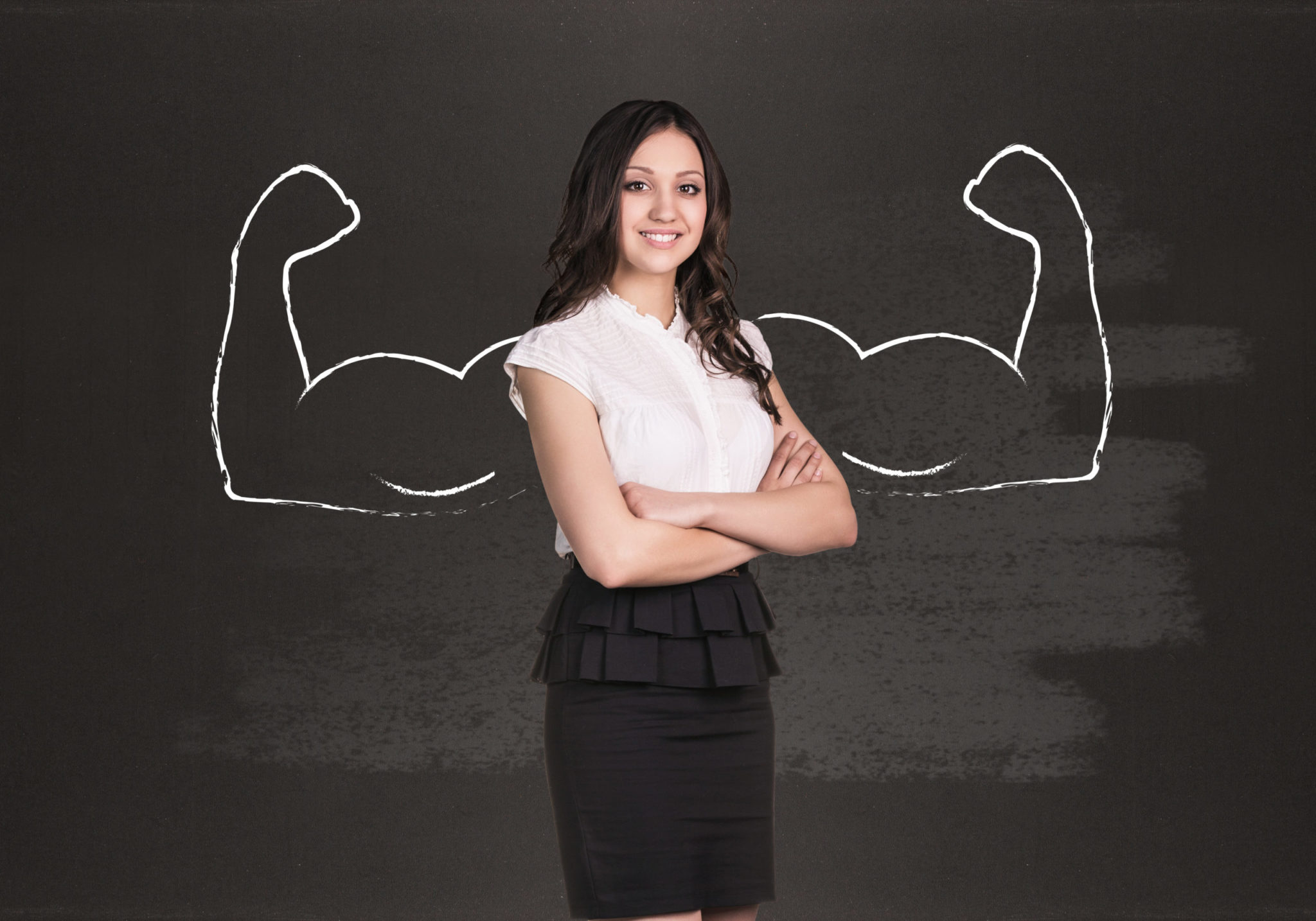 Strong woman image