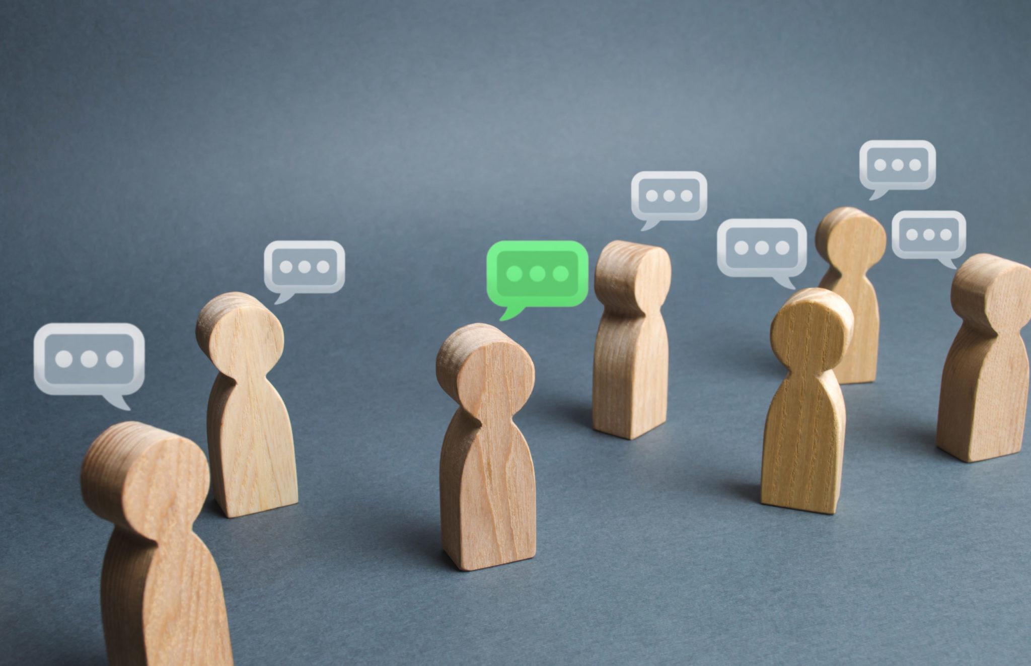 Wooden Figures Talking
